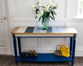 vintage console table hallway table