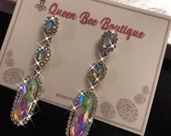 Auroura  Borealis Triple dangle earrings