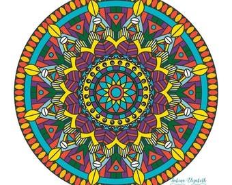 Tribal Mandala 1, clipart, digital drawing