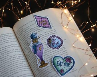 Alice in wonderland inspired Stickers