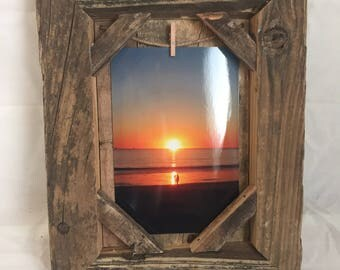 Set of 2 reclaimed wood picture frames
