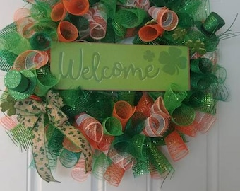 St. Patrick's Day Welcome wreath