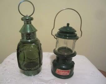Vintage Avon Coleman and Whale Oil  Lanterns