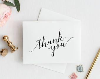 Wedding Thank You Cards | Printable Thank You Wedding Cards | Wedding Thank You Cards Printable | Calligraphy Wedding Thank You Cards
