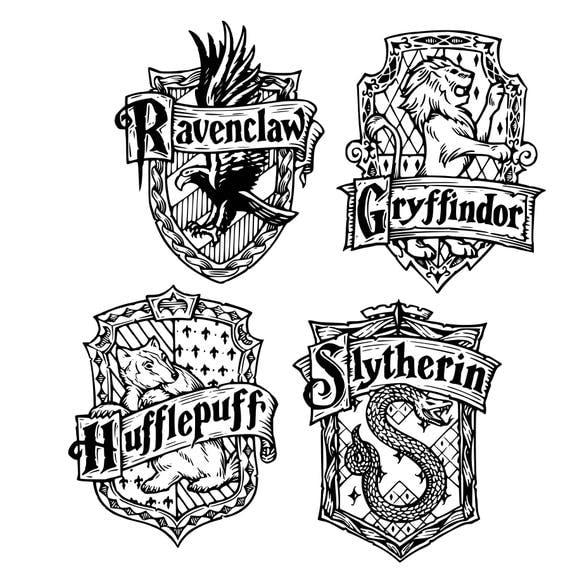 Digi Tizers Hogwarts House Crests Harry Potter Svg Studio