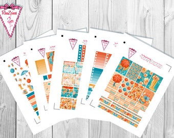 Fall Chic - Printable Happy Planner Weekly Kit w/Cut Line