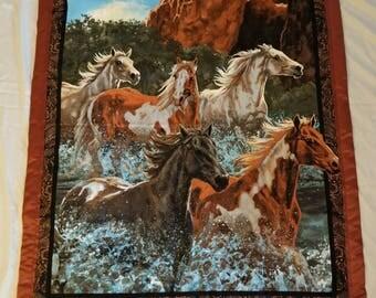 Honey horses baby/toddler blanket