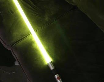 Initiate saber with custom stunt install.