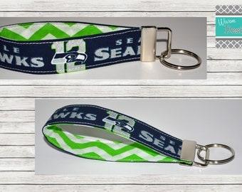 Seattle Seahawks Key fob, Keychain, Wristlet