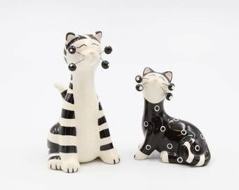 Cat Salt and Pepper Shaker Set (302-313A2)