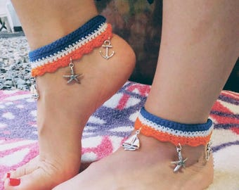 Handmade Crochet Anklets