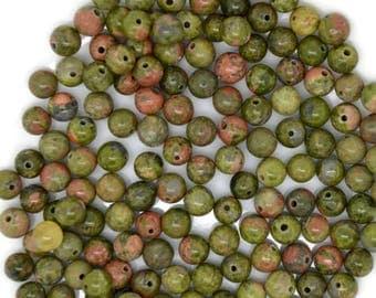 unakite beads, unakite gemstone beads, unakite, 6mm unakite beads, unakite 6mm, unakite gemstone, green gemstone, colorful gemstone