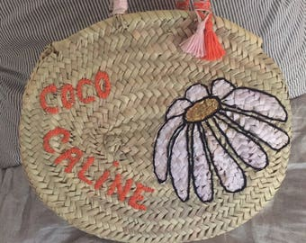 "Small round basket ""cuddly coco"""