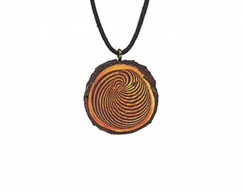 "Soul slices ""Spiral 2"" wood necklace, vintage * Ethno * hippie * MUST have * statement *"