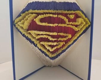 Superman Symbol - Folded Book Art