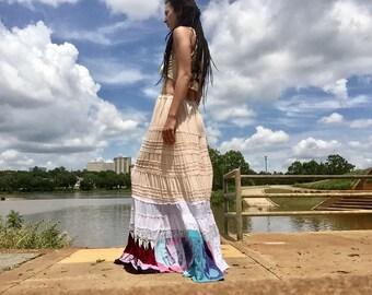 handmade upcycled mermaid patch skirt