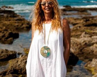 Tribal necklace, long necklace, minimalist necklace, big pendant necklace, zen necklace, exclusive necklaces,Gold necklaces
