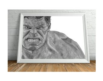 The Hulk A3 Matt Print