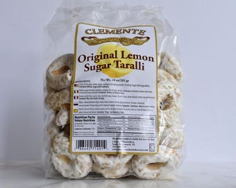 Clemente Lemon Sugar Taralli - 10 oz Bag