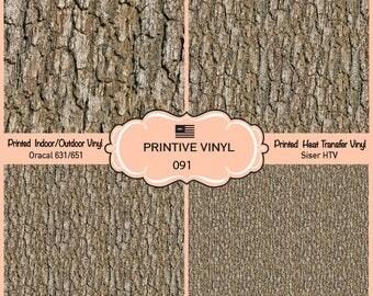 Wood Bark Printed Pattern Vinyl/Siser HTV/ Oracal/ Indoor Vinyl/ Outdoor Vinyl/ Heat Transfer Vinyl- 091