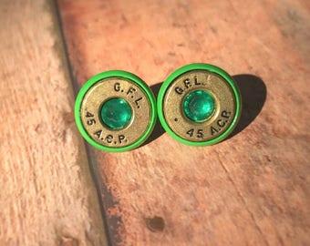 Green 45 Auto Bullet Studs