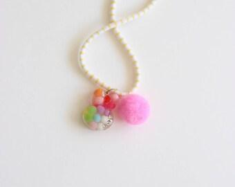 Pom Bunny Necklace