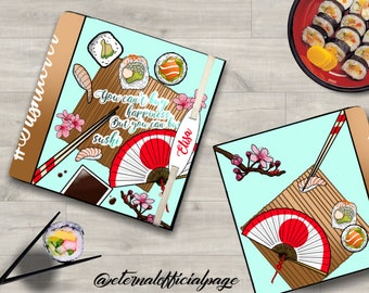 Notebook / journal / sketchbook / diary /perfect gift for sushi lovers!