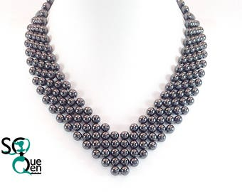Natural gemstone necklace - Hematite