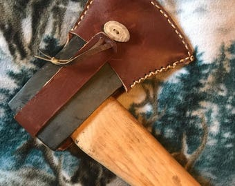 Standard 3 1/2 lbs Axe Head Leather Sheath