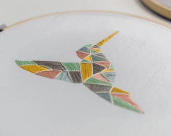 Hummingbird Embroidery Hoop