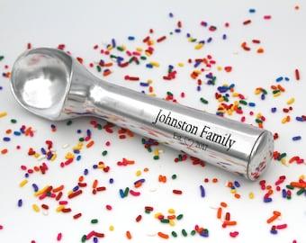 Custom Name Ice Cream Scoop Great Christmas present for an Ice Cream Lover Gift Custom engraved personalized  Name Ice Cream Scooper Gift