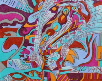 outsider art beautiful colors quality paper