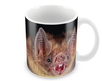 Bat  Ceramic Coffee Mug    Free Personalisation