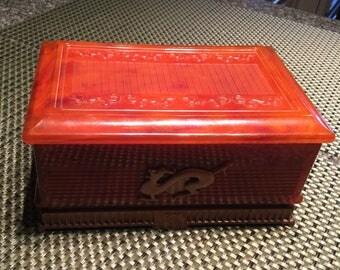 Vintage, early, plastic Jewellery Box
