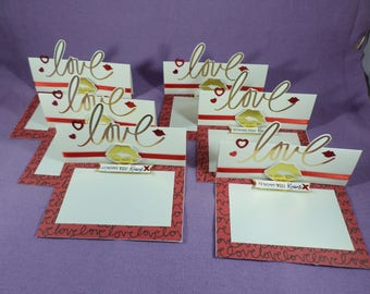 Smootches! - easel style cards - Love/ Valentines