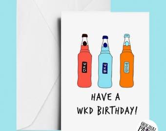 WKD Birthday card