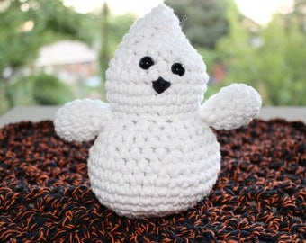 Friendly Ghost Lovey Security blanket 100% Cotton