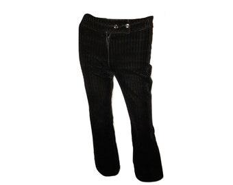 Vintage 90's Velvet Pants, Black Velvet Pants