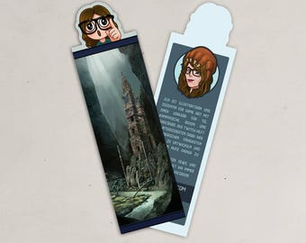 Motif cut out bookmark of lost Temple