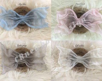 Newbornshoot mohair wraps props for baby photography