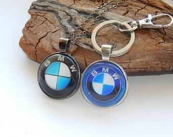 BMW pendant necklake keychain, Car Logo pendant necklace keychain, BMW simbol, BMW jewelry, bmw logo, bmw patch, bmw emblem, Driver gift