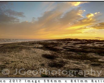 34 SUNSET MUSTANG ISLAND on the Gulf coast by Corpus Christi, Texas