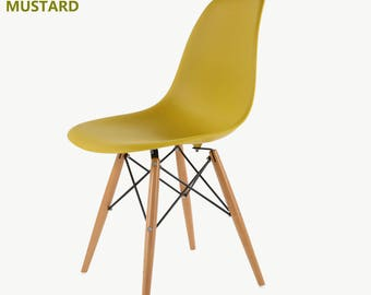 MOF eames chair new colour for 2017 Summer! Mustard set of 2, set of 4