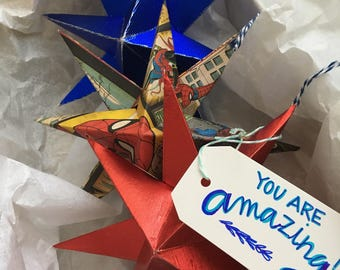Personalized Box of Hanging Stars - spidey stars