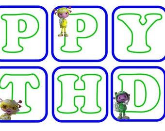 Floogals Happy Birthday Banner (smaller)