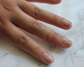 Midi Ring Set of 2 | Basic Bands | Adjustable, Stackable and Minimalist Ring