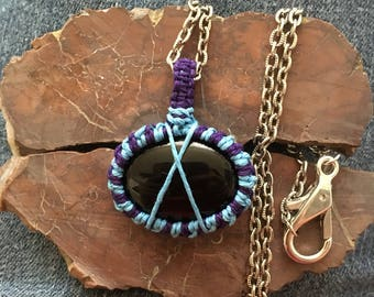 Hemp-wrapped Onyx Necklace