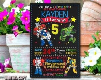 Rescue Bots Invitation,Rescue Bots Birthday,Rescue Bots Party,Rescue Bots Card,Rescue Bots Printable,Rescue Bots Invites,Rescue Bots_BS024