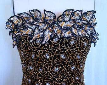 Vintage Gold Leaf Dress