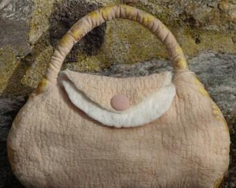 felted silk handbag